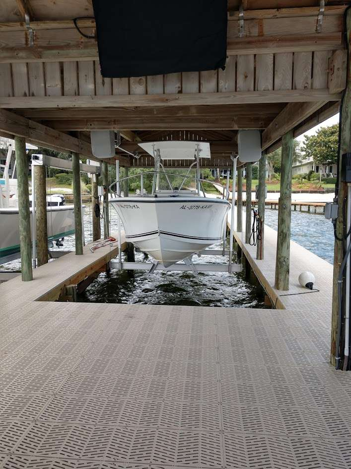 semple boat house lift dock and deck orange beach